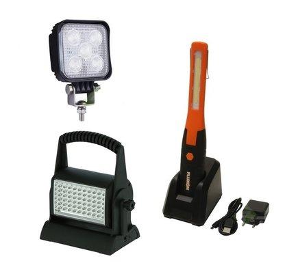 Werklampen, Looplampen en Zaklampen