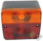 achterlicht vierkant, aanhangerverlichting, aanhangerlamp, aanhanger, aanhangerverlichting