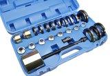 front wheel bearing removal kit, lagerplaat  55 mm-59 mm-63 mm -66,5 mm -70 mm -71,5 mm -73 mm -73,5 mm-75 mm -77,5 mm -81,5 mm