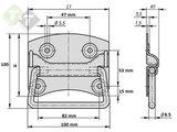 Kistgreep 105 mm, Amerikaans model, Kist handgreep_