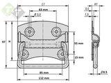 Kistgreep 120 mm, Amerikaans model, Kist handgreep_