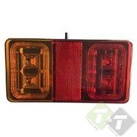 Achterlicht LED, Rechthoek, Ledlamp, Aanhangerlamp, Achterlichten