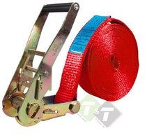 Spanband, Sjorband 5 Ton, 15 meter x 50mm, Rood