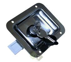 Kofferslot, RVS, 119mm x 92mm, inc. 2 sleutels