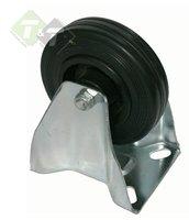Flightcase Bokwiel 80 mm, Vol rubberen wiel, Bokwielen