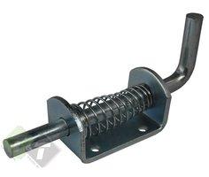 Treksluiting met veer, lengte van 160mm, plaatafmeting van 72mm x 40mm