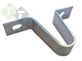 Koppeling steun V-vorm, Disselsteun 80 mm