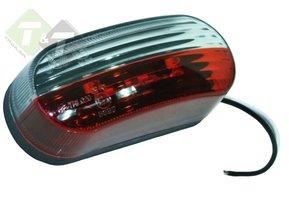 Breedtelamp LED, Contourlamp Rood/Wit, 90x42mm, 12V, DAFA