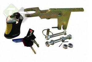 Aanhangerslot, Caravan sloten, Fixed Lock A60 SCM, 2x Verticaal M12