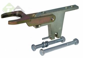 Aanhangerslot, Caravan sloten, Fixed Lock A60 Ongekeurd, 2x Verticaal M12