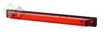 Zijmarkeringslamp, Rood, Universele ledlamp, 12 tot 24 Volt, H.O.H 230mm