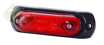 Zijmarkeringslamp, Contourverlichting LED, Rood, 12 tot 24 Volt