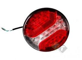 Hamburger Led achterlicht, Ledlamp 24 LEDs, Rond 12 cm