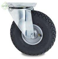 Zwenkwiel op lucht, Zwenkwiel met Stalen velg, 260 mm, 150 kg