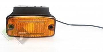 Zijmarkeringslamp met houder, Contourlamp oranje, 12 tot 24 volt, Zijlamp