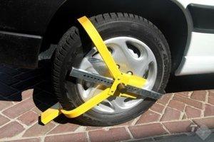 Wielklem, voor 13 inch tot 16 inch wielen, bandbreedte van max. 195mm, inc. 2 sleutels