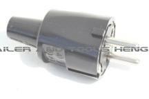 Stekker, zwart PVC + RA, 16 Ampere, 250 Volt
