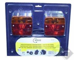 verlichtingsset magneet, verlichting set, aanhangerverlichting