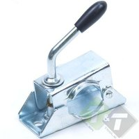 Neuswielklem, buisdiameter van 48mm, solide spindel, 2 montagegaten