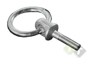 Ring met bout, M10 x 35mm, geschikt voor grote trekkracht