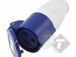 Contrastekker CEE , 3-pen, 230 Volt, 32 Ampere, CE keuring