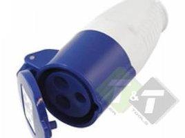 Contrastekker cee , 3-pen, 230 Volt, 16 Ampere, CE keuring