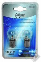 Autolamp 12 Volt, 21/5 Watt, BAY15D, 2 stuks, Benson