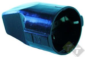 Stekker contra met randaarde, zwart, 16 Ampere, 250 Volt, CE