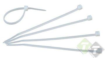 Kabelbinders wit, tiewraps 3.6mm x 300mm (B x L), 100 stuks