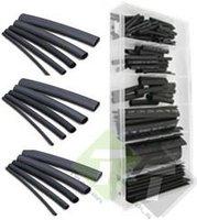 Krimpkous assortiment, zwart, 127 delig, verschillende maten