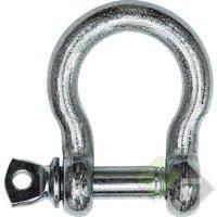 Harpsluiting met borstbout, 19mm, verzinkt