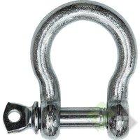 Harpsluiting met borstbout, 6mm, verzinkt