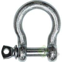 Harpsluiting met borstbout, 25mm, verzinkt
