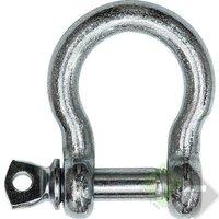 Harpsluiting met borstbout, 22mm, verzinkt
