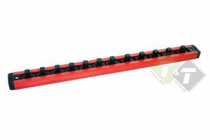 Doppenrail, Magnetische dophouder, 3/8 duims, 400mm lang, capaciteit van 12 doppen