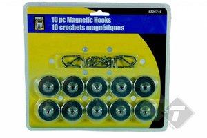 Magnetische haken 10-delig, draag capaciteit van 3.5kg, diameter van 35mm