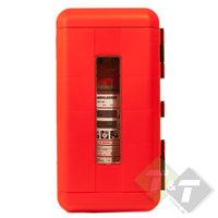 Brandblusser kast, Rood/Zwart, 64cm x 34cm x 24cm (L x B x H)