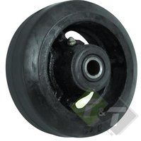 Industriewiel zwaar, 125mm diameter, 60mm as breedte, 13mm as diameter, 150KG draagvermogen