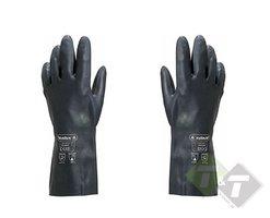 Rubberen werkhandschoen, Zwart, Maat XL, Werkhandschoenen