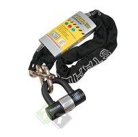 Kettingslot 302 Stahlex, 10mm x 1200mm, inc. 3 sleutels, zwart