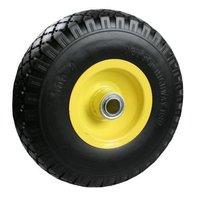 Bolderkarwiel, Steekwagenwiel anti-lek, vol rubber band prijs per stuk, maat 3.00-4