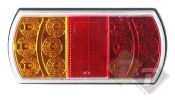 Led achterlicht rechthoek, Ledlamp 15 LEDS, Links, DAFA