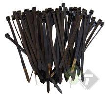 Kabelbinders Zwart, tie wraps Loskoppelbaar, 7.6mm x 300mm, 50 delig