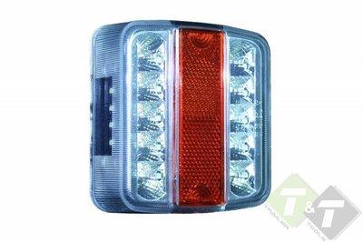 Led achterlicht vierkant, 14 LEDs, afmeting van 10cm x 10cm, 12 Volt ...
