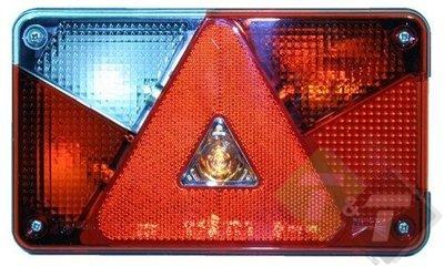 Achterlicht Multipoint V links, 8 pins connector, Aspöck, 142mm x ...