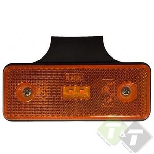 zijmarkeringlamp plat, zijmarkering lamp, countourlamp, contour licht, markeringslamp, led markering