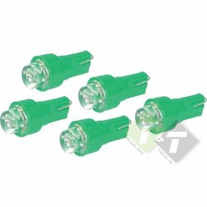 Instrumenten verlichting, LED, Groen, 12 Volt, 1.2 Watt, T5, 5 stuks ...