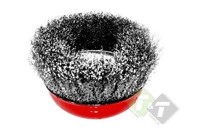 komstaalborstel, staalborstel haakse slijper, staalborstel, staal borstel