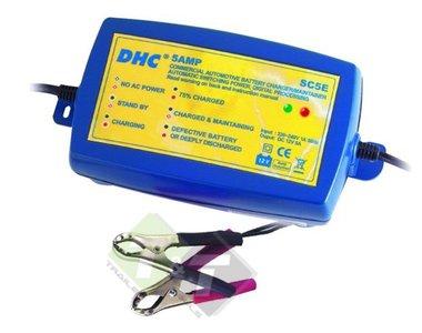 Acculader en  druppelaar, DHC, 12V, 5 Ampère, Lader